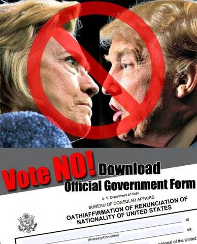 2016 US Presidential Election: Vote No!