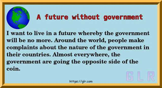 A future without government