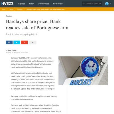 Barclays Bank Share Price
