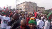 Trouble As IPOB Members March For Trump