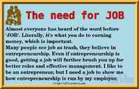 The need for JOB