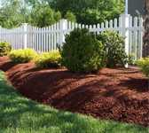 mulch to decorate the yard