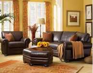 Designing a room with brown leather furniture
