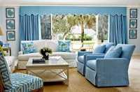 The combination of decorative fabrics in the home