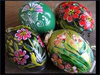 Hand-painted eggs