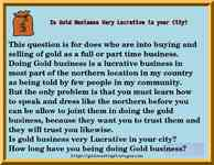 Is Gold Business Very Lucrative in your City?